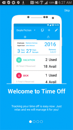 Time Off for Android slideshow 1