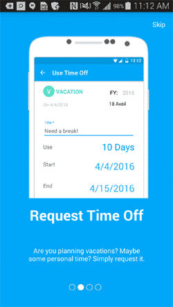 Time Off for Android slideshow 2