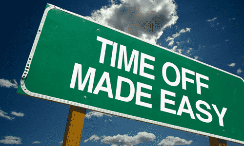Time Off Made Easy Sign